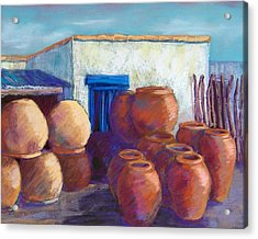 Terracotta Pots Acrylic Print by Candy Mayer