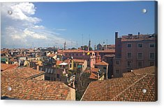 Acrylic Print featuring the photograph Terracotta Rooftops by Anne Kotan