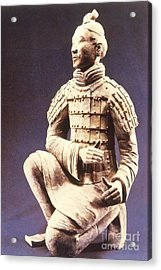 Acrylic Print featuring the photograph Terracotta Soldier by Heiko Koehrer-Wagner