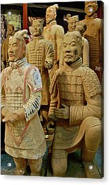 Terracotta Warriors Acrylic Print by Dorota Nowak