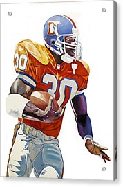 Terrell Davis - Denver Broncos  Acrylic Print