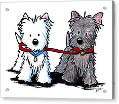 Terrier Walking Buddies Acrylic Print