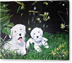 Terriers' Farm Pals. Acrylic Print