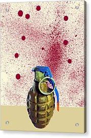 Terror Acrylic Print by Dominic Piperata