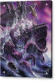 Terror From The Deep Acrylic Print by Oliver Frey
