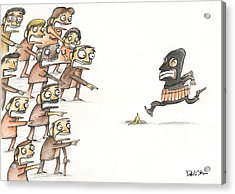 Terrorist And People Acrylic Print
