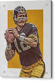 Terry Bradshaw Pittsburgh Steelers Art Acrylic Print by Joe Hamilton