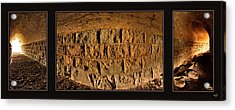 Acrylic Print featuring the photograph Terry Tunnel Triptych by Leland D Howard
