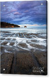 Tessellated Flow Acrylic Print by Mike  Dawson