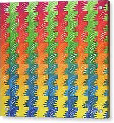Tessellation Acrylic Print by Jacqueline Phillips-Weatherly