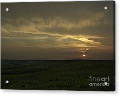 Teterville Sunset Acrylic Print by Fred Lassmann