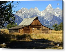 Teton Barn 4 Acrylic Print by Marty Koch