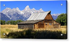 Teton Barn 5 Acrylic Print by Marty Koch