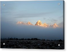Teton Foggy Morning Acrylic Print