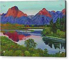 Teton Lake Acrylic Print