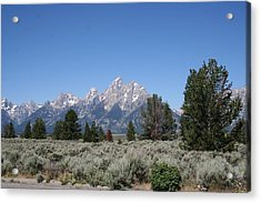 Teton Majesty Acrylic Print by Gregory Jeffries