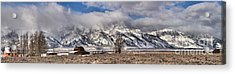 Acrylic Print featuring the photograph Teton Mormon Homestead Panorama by Adam Jewell