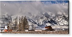 Acrylic Print featuring the photograph Teton Mormon Row Panorama by Adam Jewell