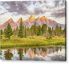 Acrylic Print featuring the photograph Teton Morning by Mary Hone