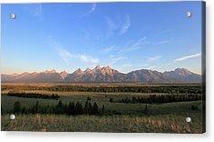 Teton Range After Sunrise Acrylic Print