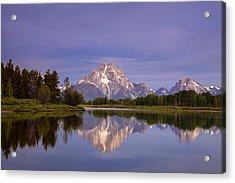 Teton Reflections Acrylic Print by Andrew Soundarajan