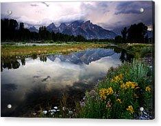 Teton Reflections Acrylic Print by Eric Foltz