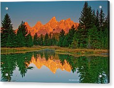 Teton Sunrise Acrylic Print