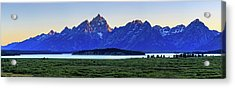 Teton Sunset Acrylic Print by David Chandler