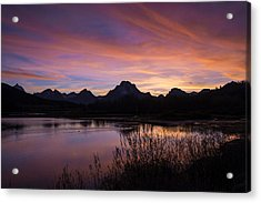 Acrylic Print featuring the photograph Teton Sunset by Gary Lengyel
