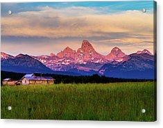 Teton Valley Sunset Acrylic Print