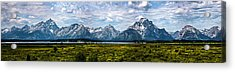Acrylic Print featuring the photograph Tetons - Panorama by Shane Bechler