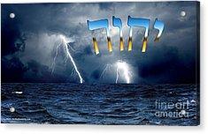 Tetragrammaton Acrylic Print by Italian Art
