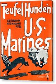 Teufel Hunden Us Marines Poster Acrylic Print by American School