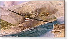 Tex Hill Over The Salween Gorge Acrylic Print by Marc Stewart