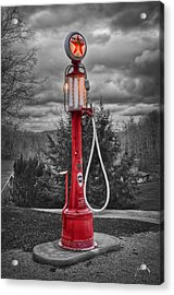 Acrylic Print featuring the photograph Texaco Gas Pump by Williams-Cairns Photography LLC