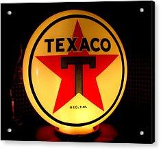 Texaco Acrylic Print by Lisa Jayne Konopka