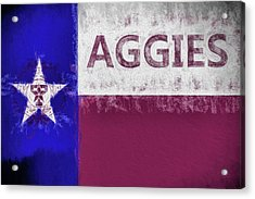 Texas Aggies State Flag Acrylic Print by JC Findley