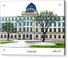 Texas Am University Acrylic Print by Frederic Kohli