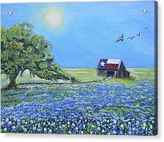 Texas Barn And Live Oak Acrylic Print