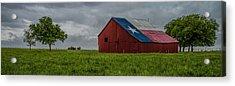 Texas Barn Panorama Acrylic Print