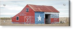 Texas Barn With Goats And Ram On The Side Acrylic Print