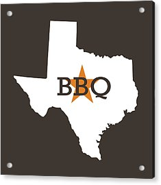Acrylic Print featuring the digital art Texas Bbq by Nancy Ingersoll