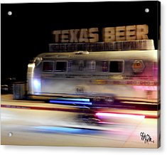 Texas Beer Fast Motorcycle #5594 Acrylic Print by Barbara Tristan