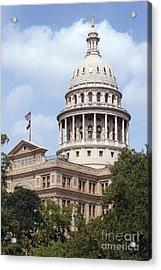 Texas Capitol Acrylic Print by Jeannie Burleson