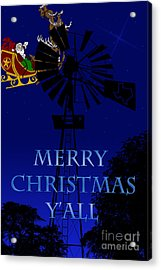 Texas Christmas Card Acrylic Print