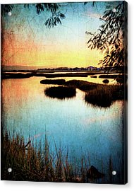 Texas City Wetlands Sunset Acrylic Print