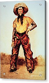 Texas Cowboy Acrylic Print by Frederic Remington