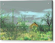 Texas Farm House - Digital Painting Acrylic Print by Merton Allen