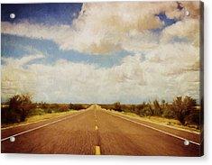 Texas Highway Acrylic Print by Scott Norris