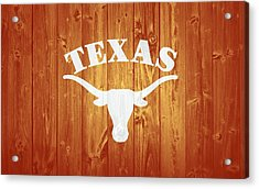 Texas Longhorns Barn Door Acrylic Print by Dan Sproul
